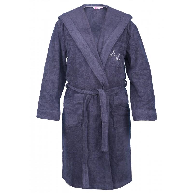 42dca1584e3375 Płaszcz kąpielowy męski z kapturem PKH - Fabryka Szlafroków